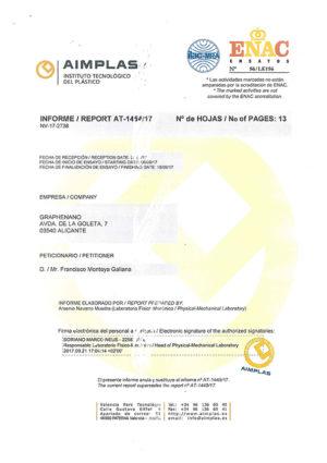 certificado aimplas graphenano